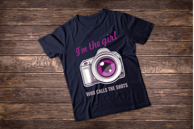 Photographer t shirt illustrations. I'm the Girl