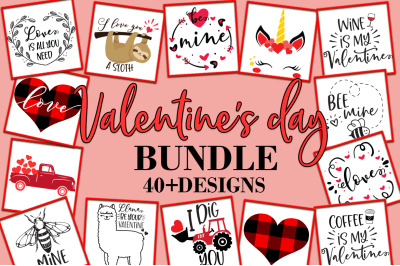Valentine's Day Quotes Sayings SVG Design Bundle
