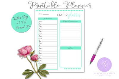Daily Planner Printable Page