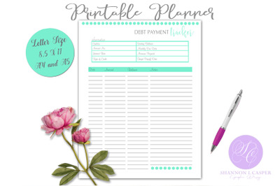 Debt Payment Printable Planner Page
