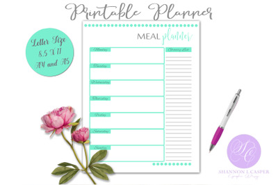 Meal Planner Printable Page