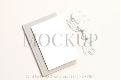 Card mockup with angel & FREE BONUS