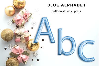 Blue foil balloon alphabet clipart, Blue balloons, Blue Foil alphabet, Blue font