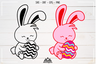 Cute Easter Bunny Rabbit Svg Design