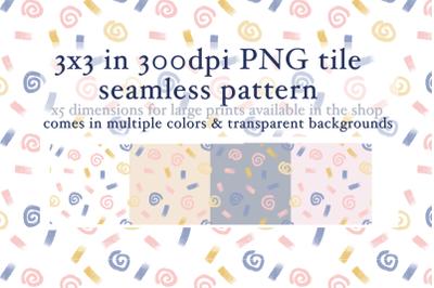 Swirls Seamless Pattern - Small version