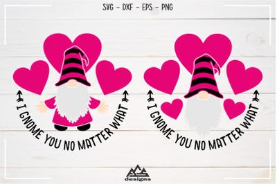 Love Gnome Valentine Gnome Svg Design