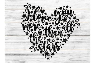 I love you more than all stars