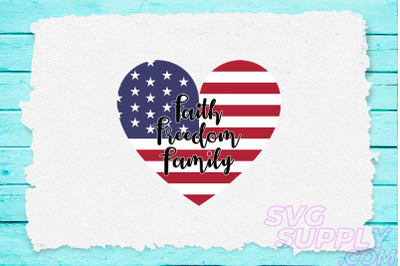 Faith freedom family svg for america tshirt