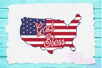 God bless america clipart svg for america tshirt