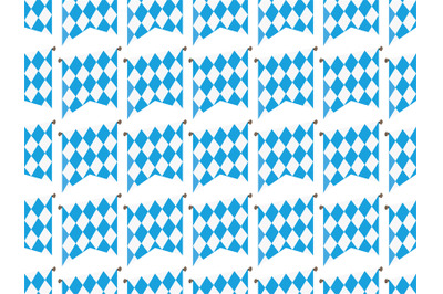 Oktoberfes flags seamless pattern vector illustration blue on white