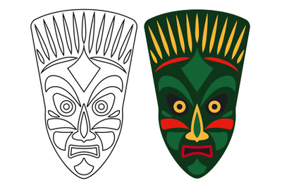 Tribal african masks