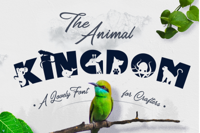 The Animal Kingdom Craft Font