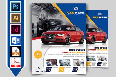 Car Wash Flyer Template Vol-04