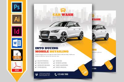 Car Wash Flyer Template Vol-06