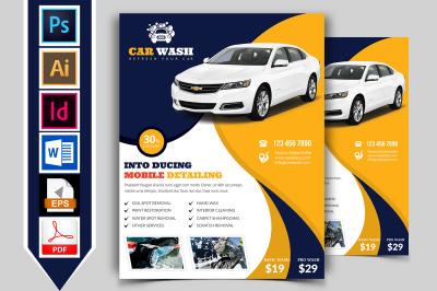 Car Wash Flyer Template Vol-07