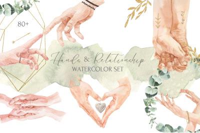 Hands & Relationship Watercolor Set