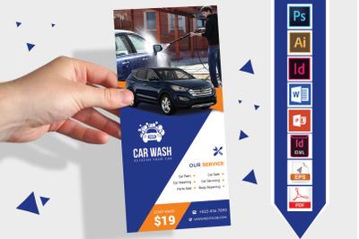 Rack Card   Car Wash DL Flyer Vol-01