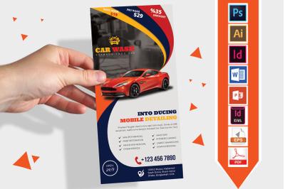 Rack Card   Car Wash DL Flyer Vol-02