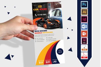 Rack Card   Car Wash DL Flyer Vol-03