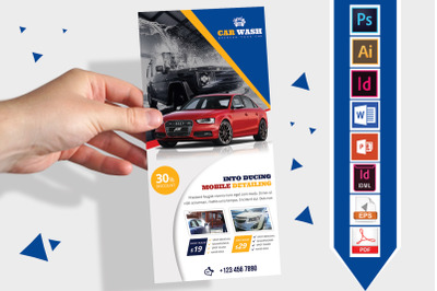 Rack Card   Car Wash DL Flyer Vol-04