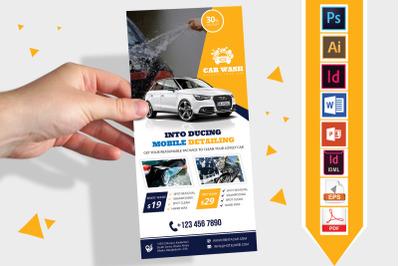 Rack Card   Car Wash DL Flyer Vol-05