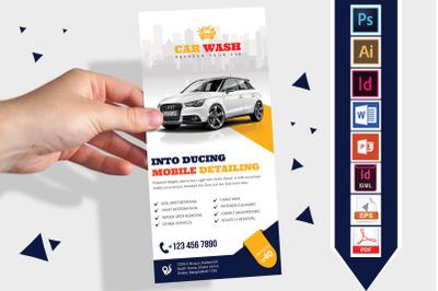 Rack Card   Car Wash DL Flyer Vol-06