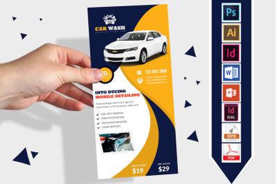 Rack Card   Car Wash DL Flyer Vol-07
