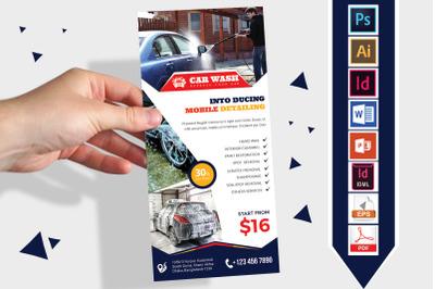 Rack Card   Car Wash DL Flyer Vol-08