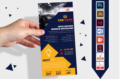 Rack Card   Car Wash DL Flyer Vol-09