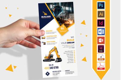 Rack Card | Construction DL Flyer V-01