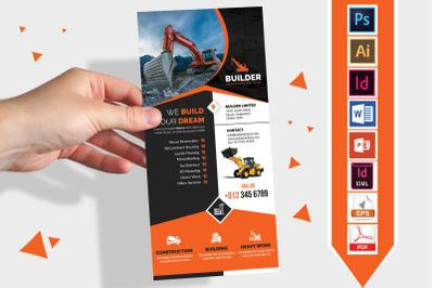 Rack Card | Construction DL Flyer V-02