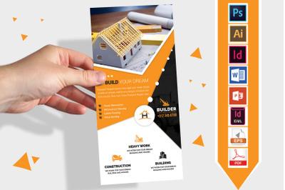 Rack Card | Construction DL Flyer V-03
