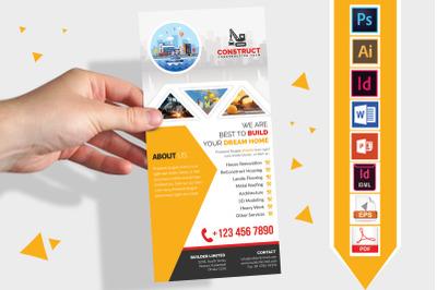 Rack Card | Construction DL Flyer V-04
