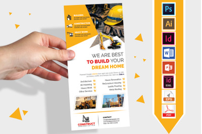 Rack Card | Construction DL Flyer V-05