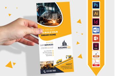 Rack Card | Construction DL Flyer V-06