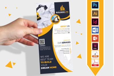 Rack Card | Construction DL Flyer V-07