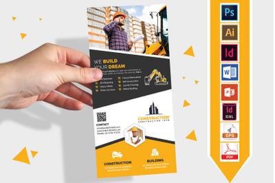 Rack Card | Construction DL Flyer V-08