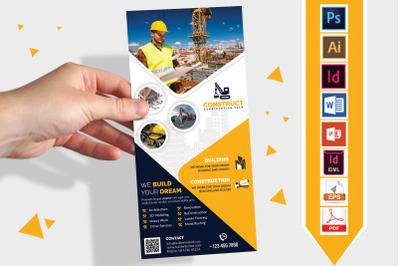 Rack Card | Construction DL Flyer V-09