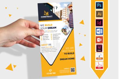 Rack Card | Construction DL Flyer V-10
