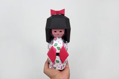 DIY Kokeshi Doll - 3d papercraft