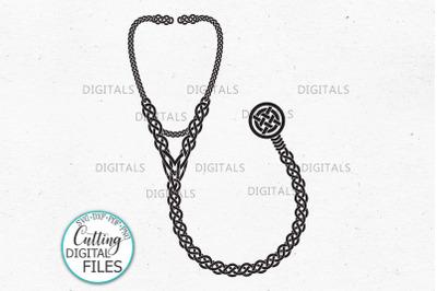 Nurse sign Celtic knots Stethoscope vinyl cut svg printable