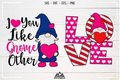 I Love You GNOME Valentine Svg Design