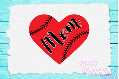 Mom love baseball svg for baseball tshirt