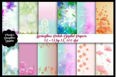 Springtime Soft Petals Digital Papers