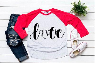 Love svg for baseball tshirt