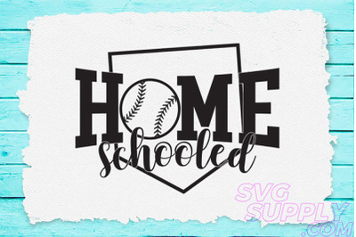 Home schooled svg for baseball tshirt