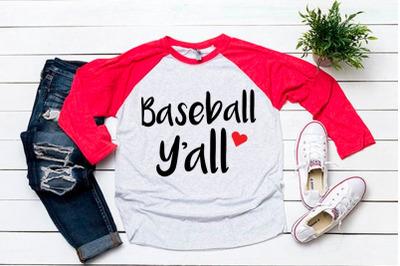 Baseball y'all svg for baseball tshirt