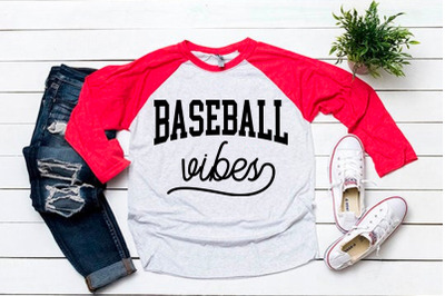 Baseball vibes svg for baseball tshirt