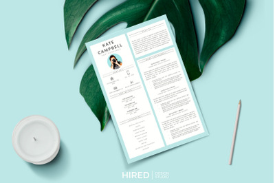 Modern and Creative Resume Template with cover letter and Career tips