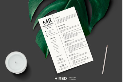 Minimalist Resume, CV for MS Word & Mac Pages. Project Manager Resume